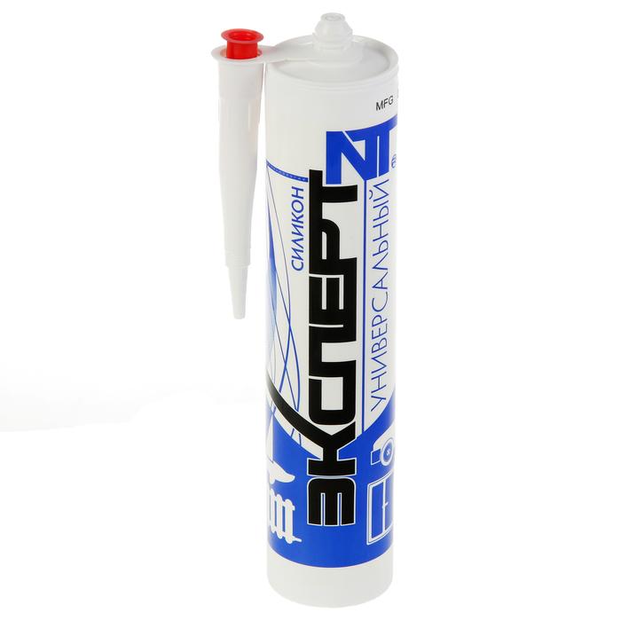 Герметик «ЭКСПЕРТ», силиконовый, универсальный,  белый, 280 мл