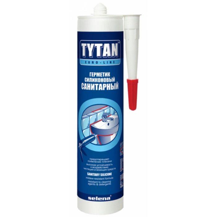 Герметик Tytan Euro-Line Силиконовый Санитарный бесцветный 290мл