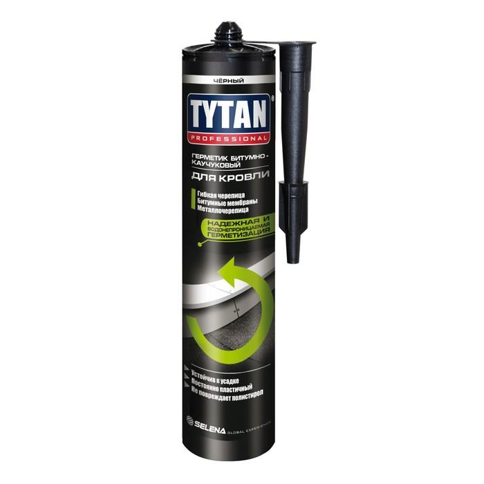Герметик Tytan Professional (99963), битумно-каучуковый, кровельный, черный, 310мл