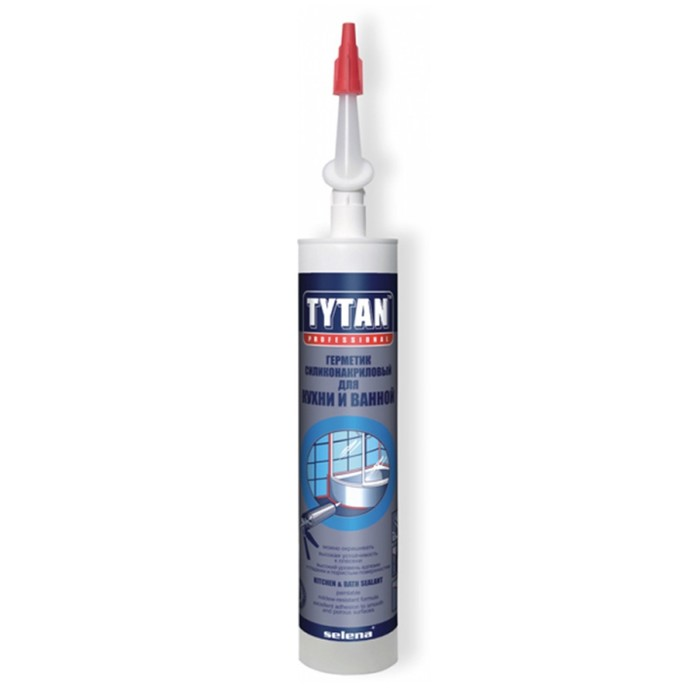 Герметик Tytan Professional (31519/26043), для кухни и ванной, бесцветный, 310мл