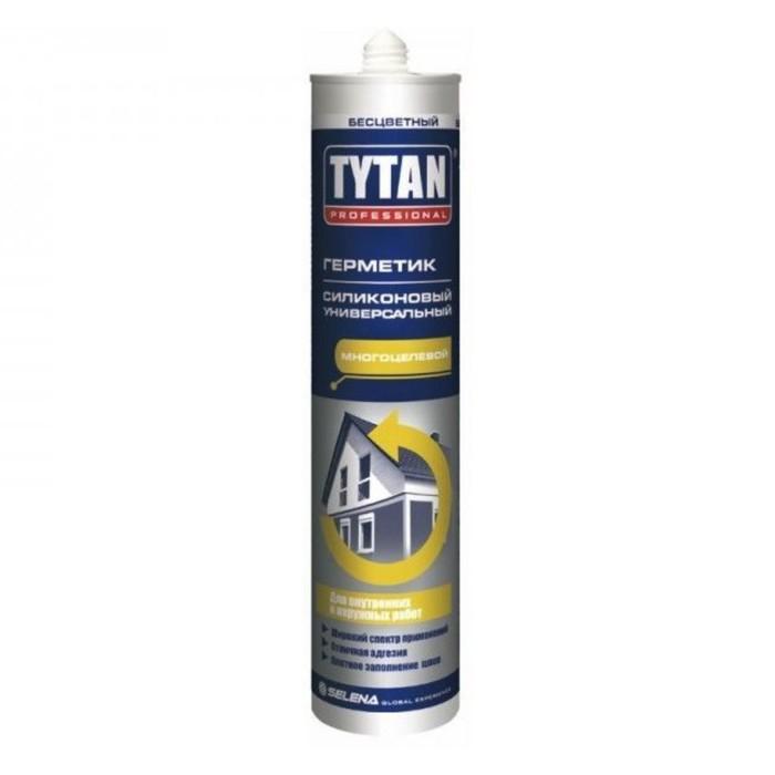 Герметик Tytan Professional (20041), силиконовый, универсальный, белый, 310мл