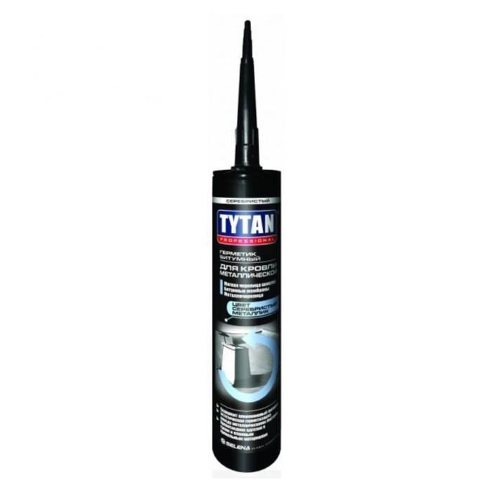 Герметик Tytan Professional 91370, битумный, для металлической кровли, серебристый, 310 мл