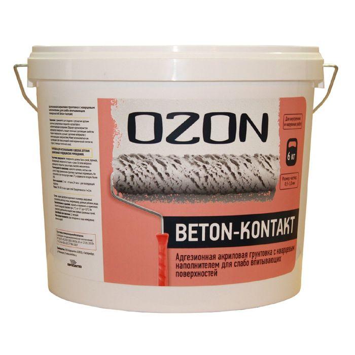 Грунтовка Бетон-контакт OZON Beton-kontakt ВД-АК 040М акриловая 13 кг