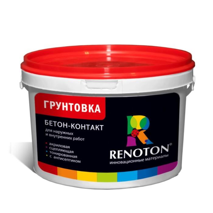 Грунтовка Бетон контакт «RENOTON» сцепляющая, цвет розовый 14кг