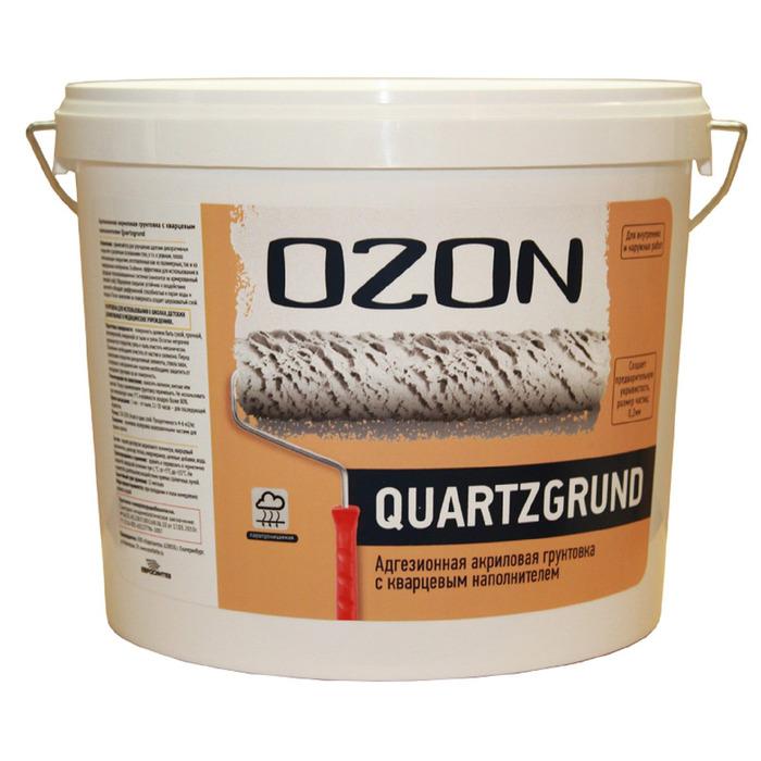 Кварц-грунт OZON Quartzgrund ВД-АК 032М акриловая 15 кг