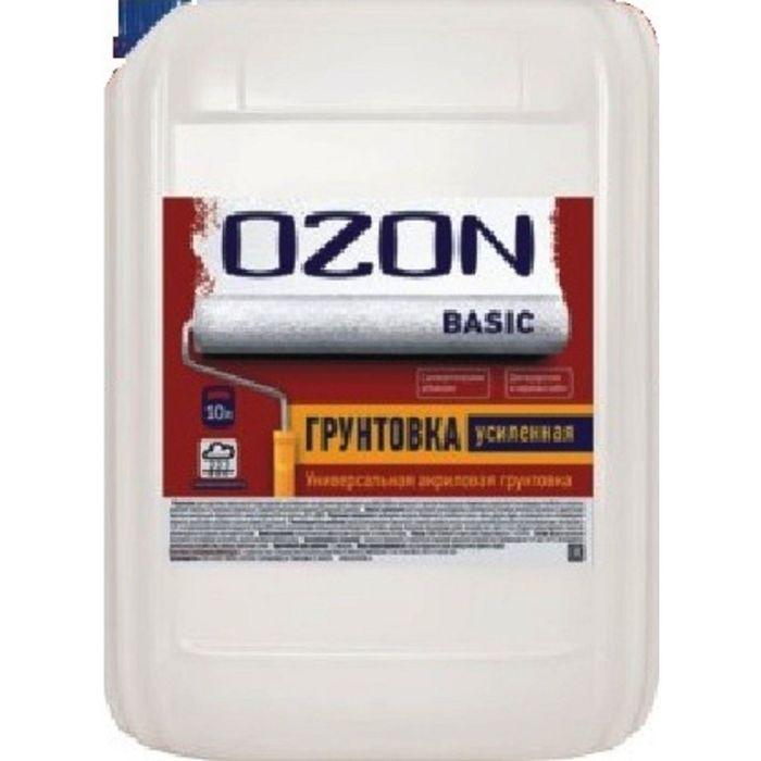 Грунтовка усиленная OZON ВД-АК 013М глубокого проникновения, акриловая 1 л