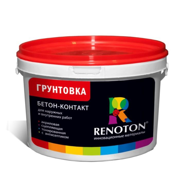Грунтовка Бетон контакт «RENOTON» сцепляющая, цвет  розовый 25кг