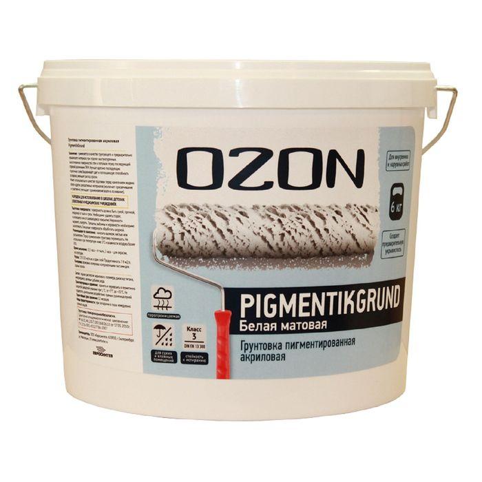 Грунтовка пигментированная OZON PigmentikGrund ВД-АК 052М акриловая 6 кг
