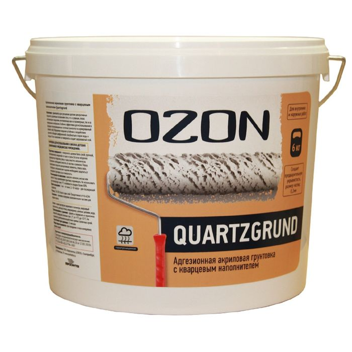 Кварц-грунт OZON Quartzgrund ВД-АК 032М акриловая 6 кг