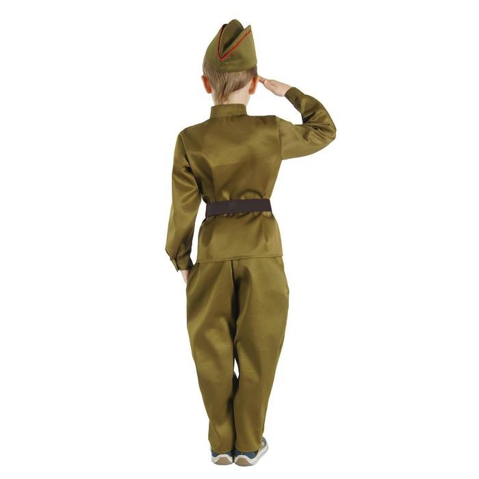 """Детский карнавальный костюм """"Военный"""" для мальчика, р-р 38, рост 146 см"""