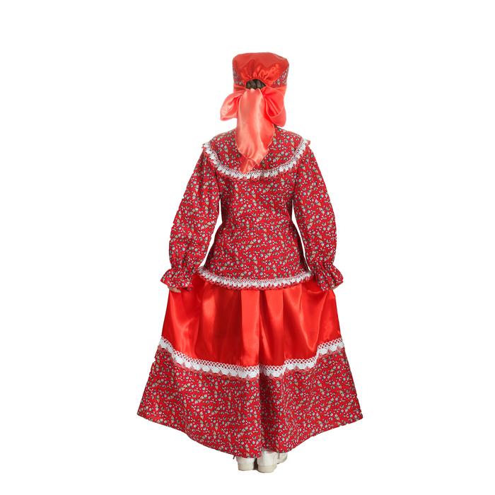 """Русский народный костюм """"Забава"""", головной убор, блуза, юбка, рост 122-128 см"""
