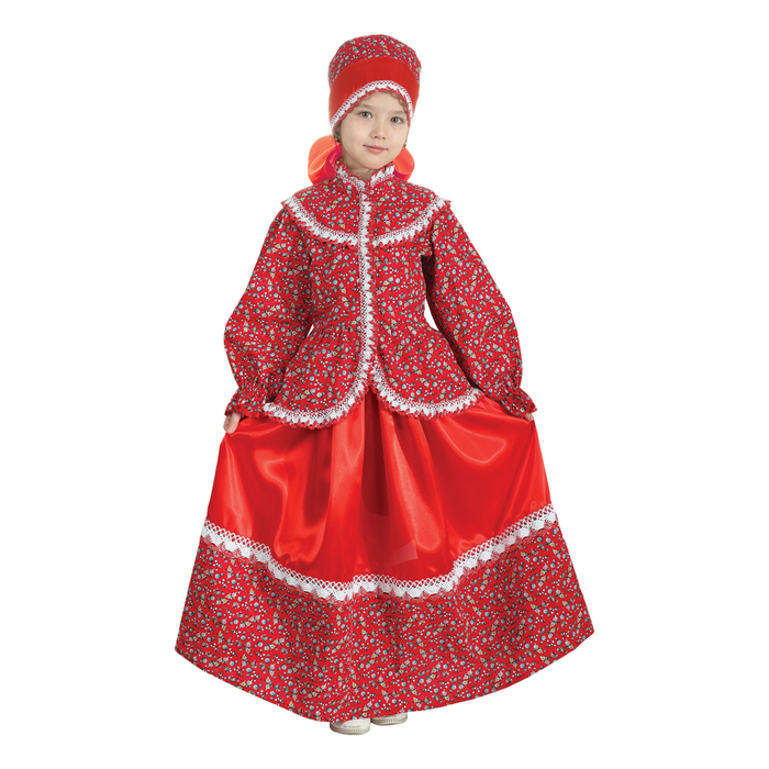 """Русский народный костюм """"Забава"""", головной убор, блуза, юбка, рост 140 см"""