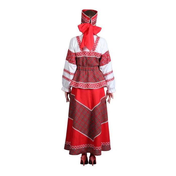 """Русский народный костюм """"Душечка"""", блузка с душегреей, юбка, головной убор, р-р 54, рост 172 см"""