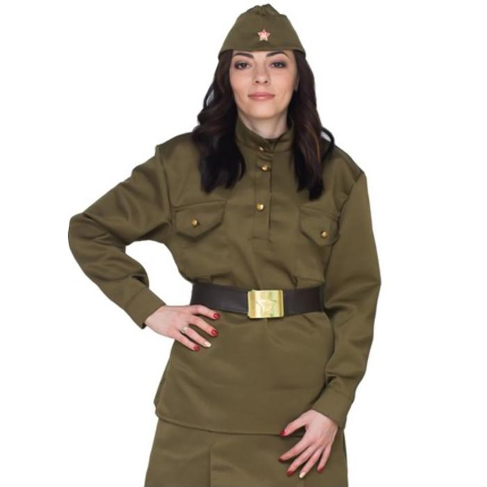 Гимнастёрка военная женская, люкс, р. 48-50