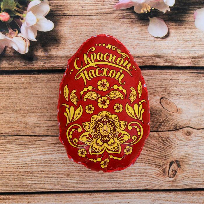 Пасхальный сувенир на магните «С Красной Пасхой» (орнамент), 6×8 см