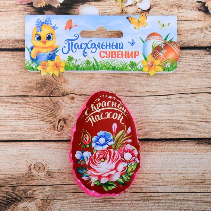Пасхальный сувенир на магните «С Красной Пасхой» (цветы), 6×8 см