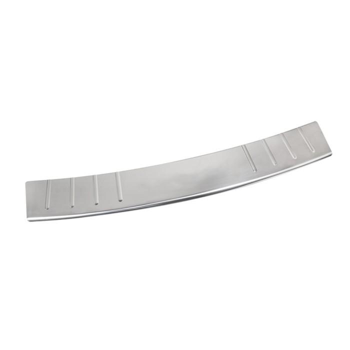 Накладка на задний бампер Dollex, Renault Duster 2011-2013, нержавеющая сталь