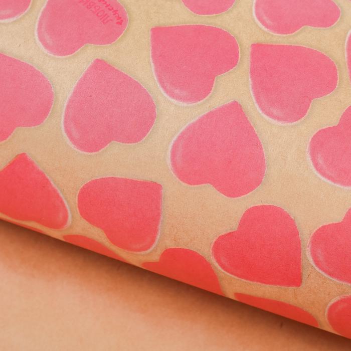 Бумага упаковочная крафтовая «Любви и вкусняшек», 50 × 70 см
