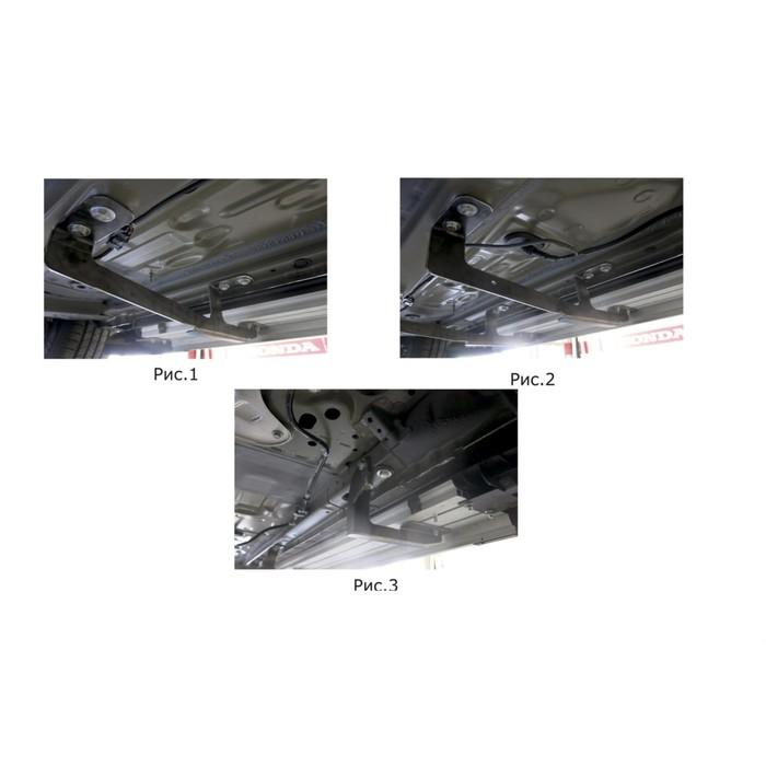"""Пороги алюминиевые """"Black"""" Rival для Honda CR-V V 2017-н.в., 173 см, 2 шт., F173ALB.2103.1"""