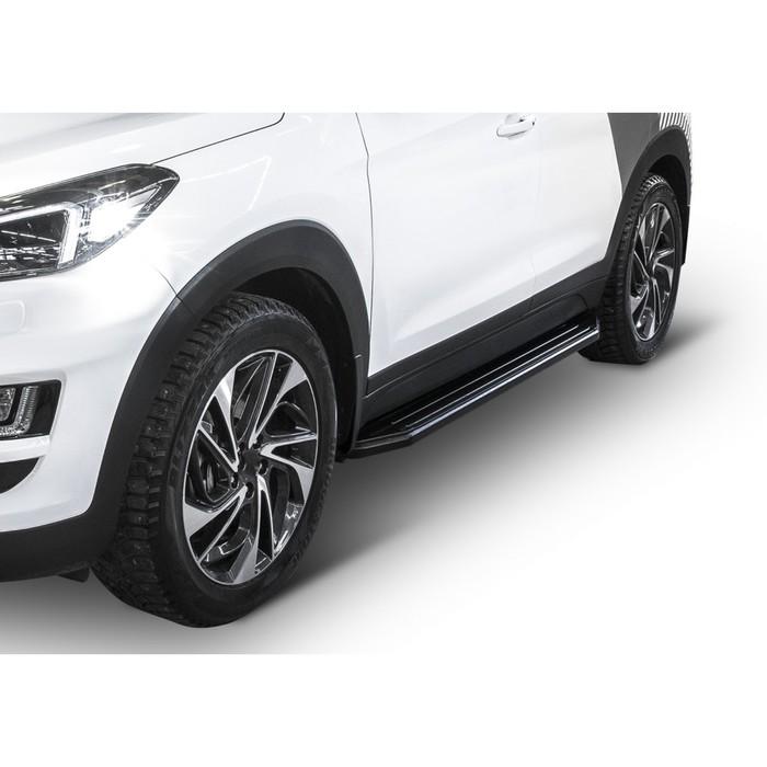 "Пороги алюминиевые ""Premium-Black"" Rival для Kia Sportage IV 2016-2018 2018-н.в., 173 см, 2 шт., A173ALB.2309.2"