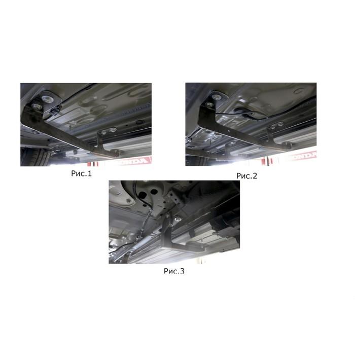 """Пороги алюминиевые """"Bmw-Style круги"""" Rival для Honda CR-V V 2017-н.в., 173 см, 2 шт., D173AL.2103.1"""