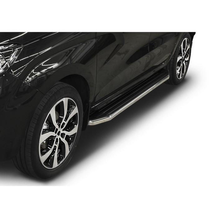 """Пороги алюминиевые """"Premium"""" Rival для Lada X-Ray 2016-н.в., 173 см, 2 шт., A173ALP.6002.1"""