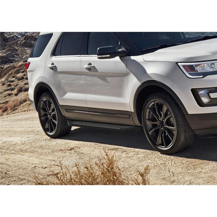 """Пороги алюминиевые """"Black"""" Rival для Ford Explorer V 2011-2015 2015-2017 2017-н.в., 193 см, 2 шт., F193ALB.1802.1"""
