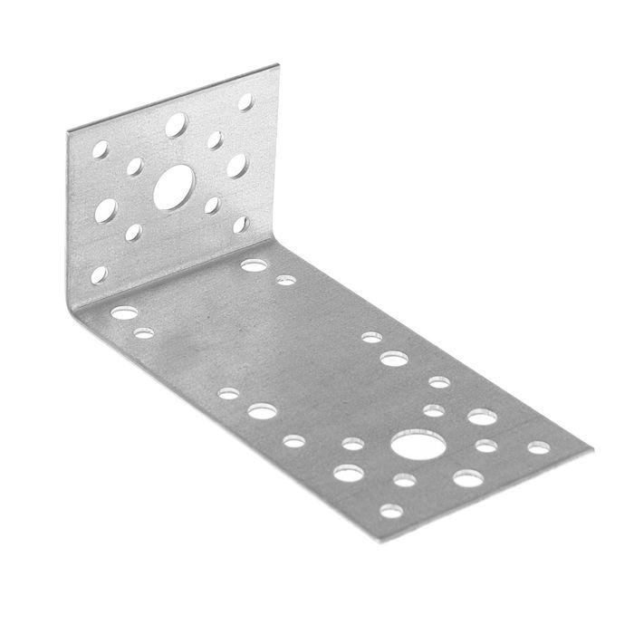 Уголок крепежный асимметричный TUNDRA krep, 130х50х65х2 мм
