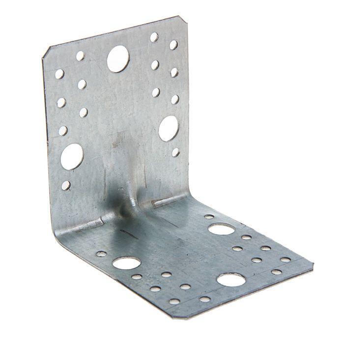 Уголок крепёжный усиленный 105 х 105 х 90 х 2 мм, ГОЦ, крупная фасовка