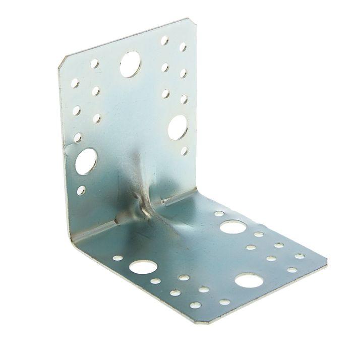 Уголок крепёжный усиленный 105 х 105 х 90 х 2 мм, оцинкованный