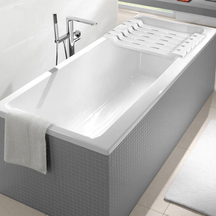Полка на ванну, цвет белый