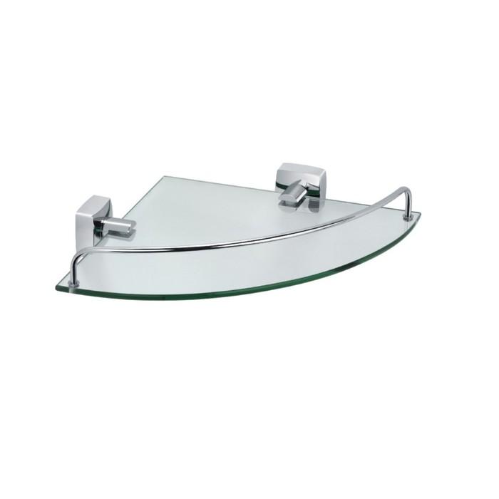 Полка Fixsen FX-61303A, стеклянная, угловая, хром
