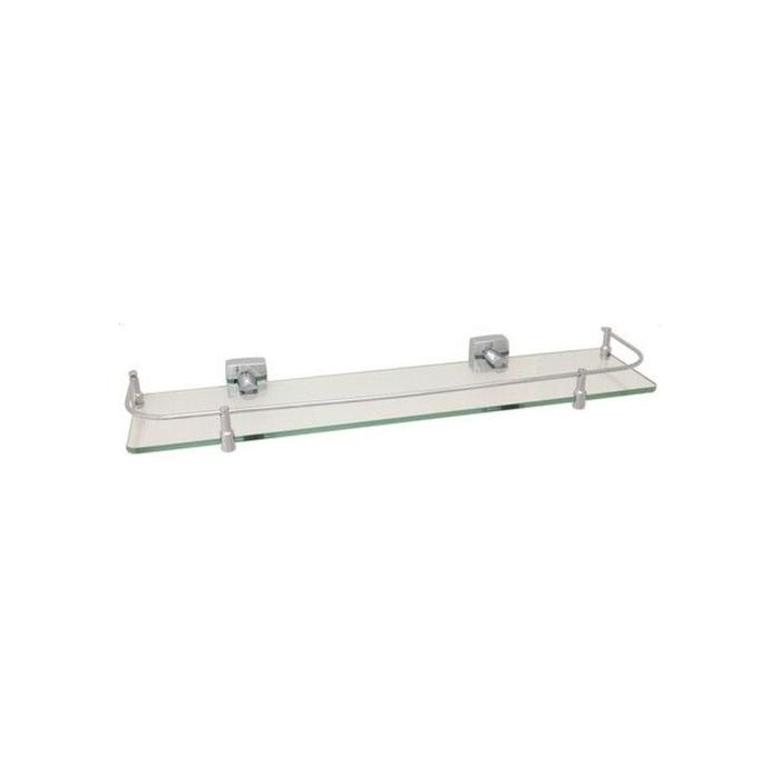 Полка стеклянная с ограничителем Fixsen FX-61303B, хром