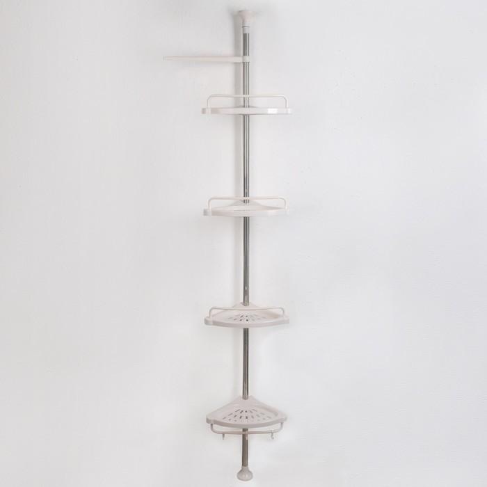 Полка 4х-ярусная раздвижная 100(260)×33,5×21,5 см, цвет белый