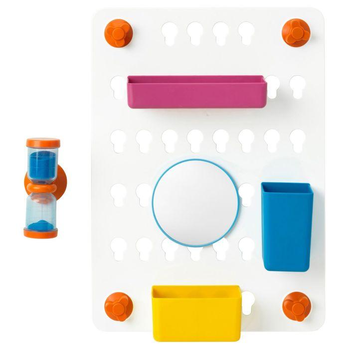 Панель с аксессуарами ЛОДДАН, 6 предметов, с присосками, цвет МИКС