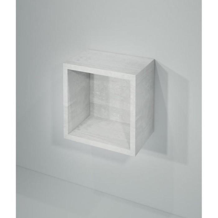 """Полка-кубик """"Кристалл"""" белая арт.003999"""