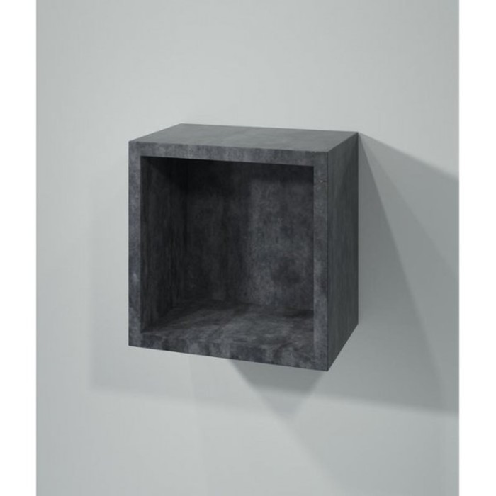"""Полка кубик """"Кристалл"""" серая арт.003996"""