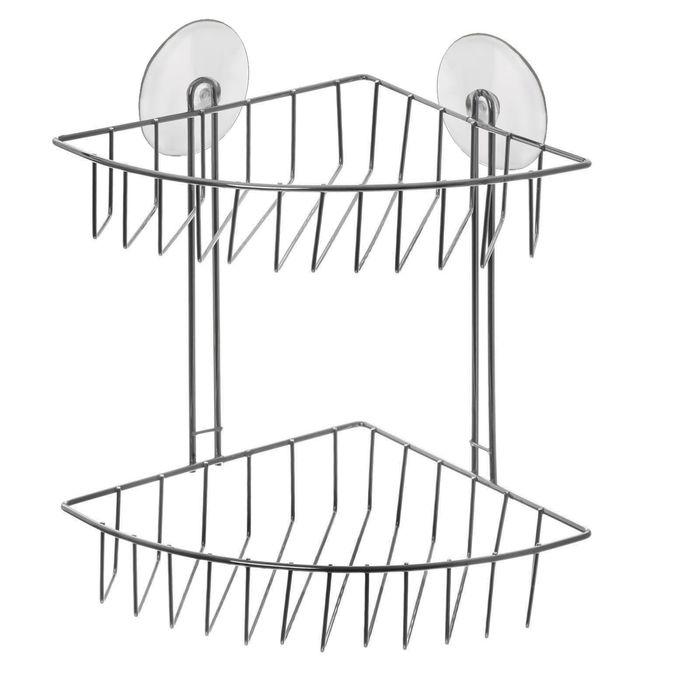 Полка 2-х ярусная угловая, 2 присоски