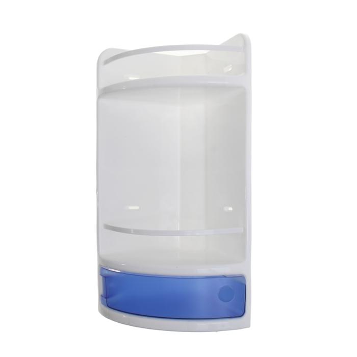 Полка для ванной угловая, цвет синий