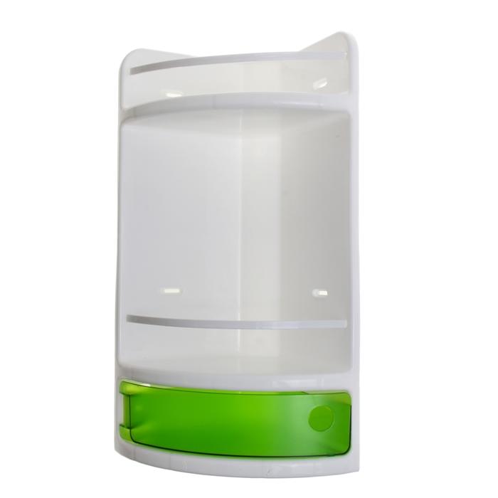 Полка для ванной угловая, цвет зеленый