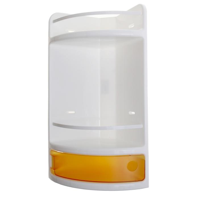 Полка для ванной угловая, цвет оранжевый