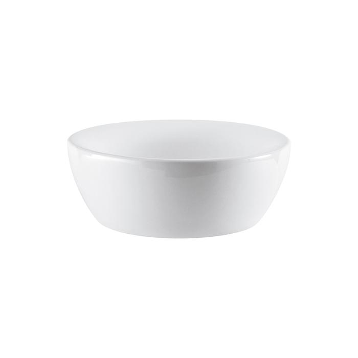 Раковина встраиваемая Cersanit Inteo, на столешницу, круглая, белый