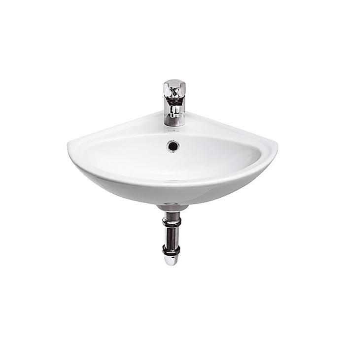 """Раковина """"Sigma"""", цвет белый, угловая, 32 х 32 см, с 1 центральным отверстием"""