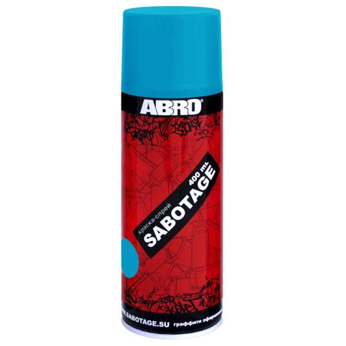 Краска-спрей ABRO SABOTAGE 15 небесно-голубой, 400 мл SPG-015