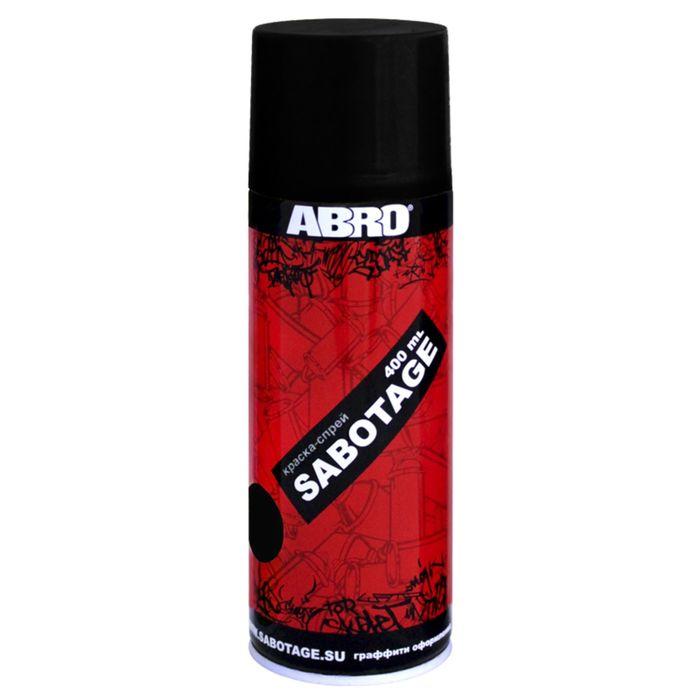 Краска-спрей ABRO SABOTAGE 39 чёрный, 400 мл SPG-039