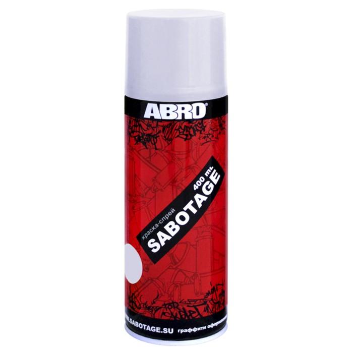 Краска-спрей ABRO SABOTAGE 136, 400 мл, светло-серебристо-серый SPG-136