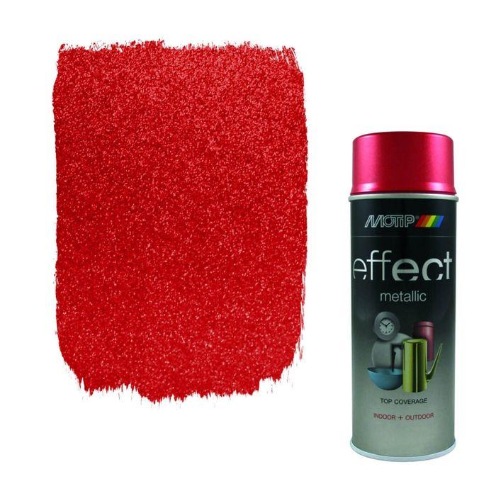 Деко Эмаль металлик красная, 400 мл, MOTIP
