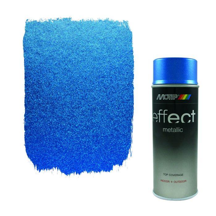 Деко Эмаль металлик голубая, 400 мл, MOTIP