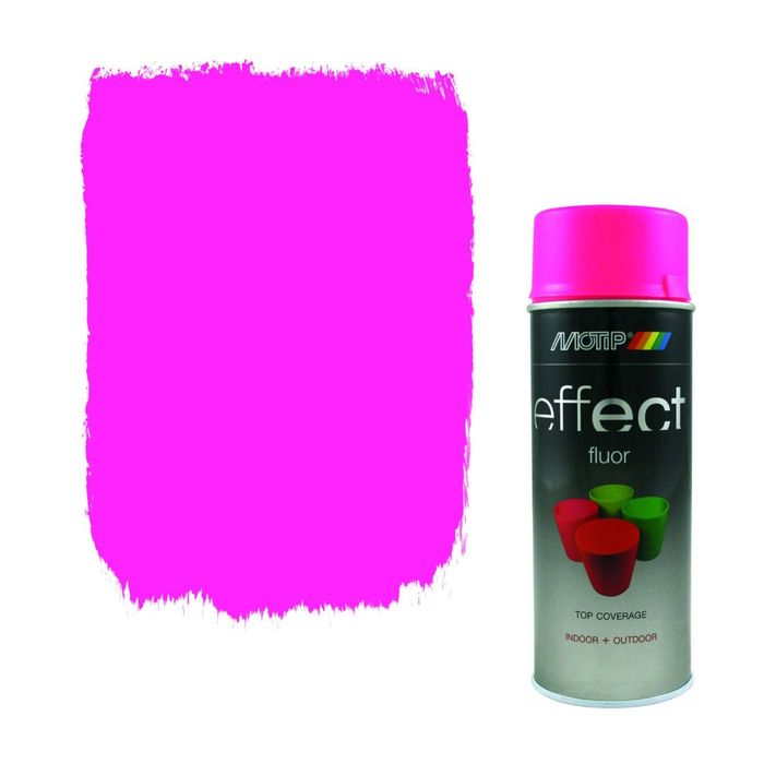 Деко Эмаль флуоресцентная розовая, 400 мл, MOTIP