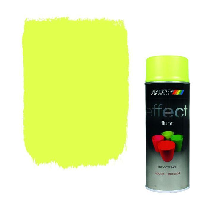 Деко Эмаль флуоресцентная желтая, 400 мл, MOTIP